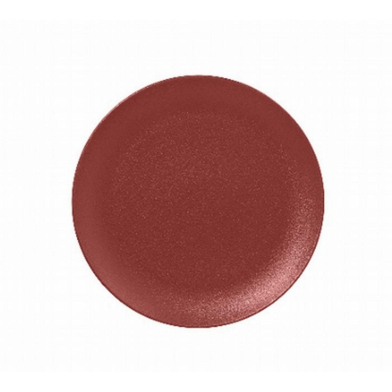 Talíř mělký 18cm - tmavě červená