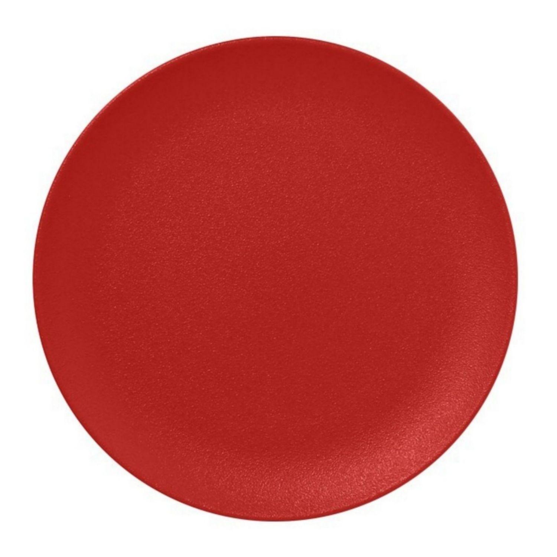 Talíř mělký 24cm - světle červená
