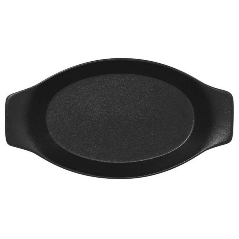 Mísa oválná s rukojetí 20cm - černá