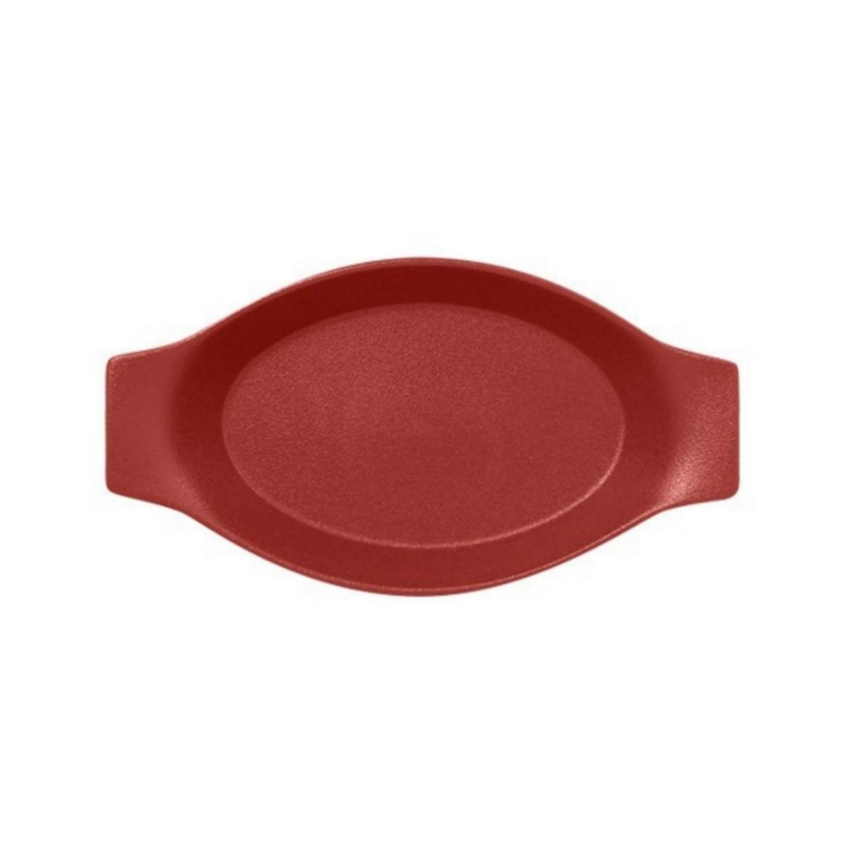 Mísa oválná s rukojetí 20cm - tmavě červená