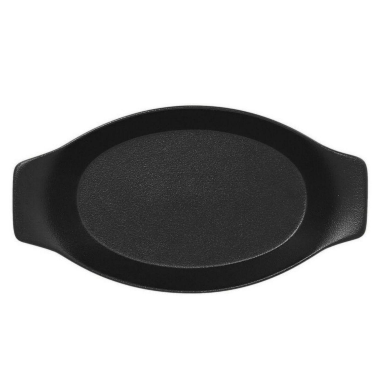Mísa oválná s rukojetí 25cm - černá