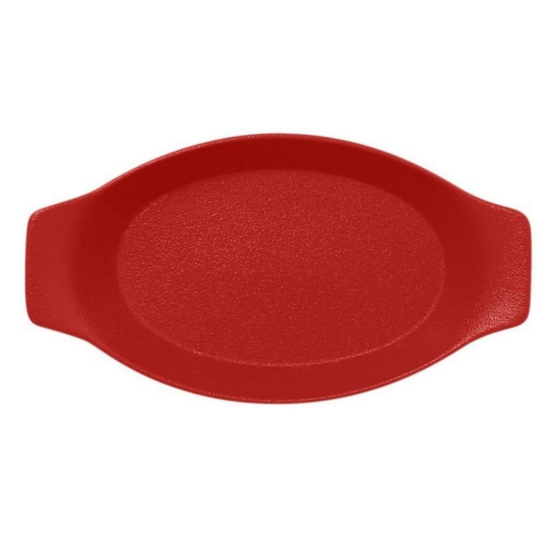 Talíř oválný s rukojetí 42 cl - světle červená
