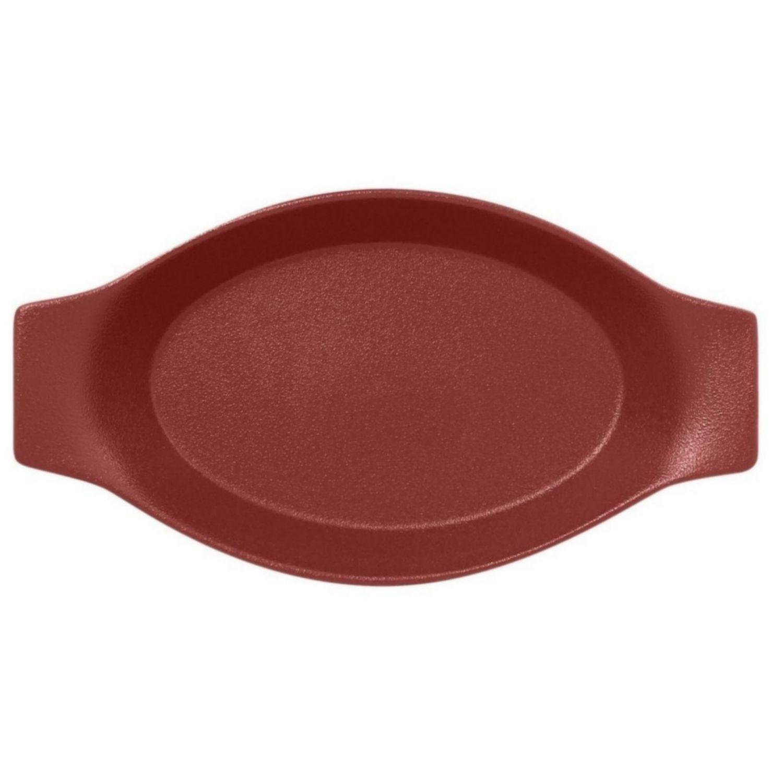 Talíř oválný s rukojetí 78 cl - tmavě červená