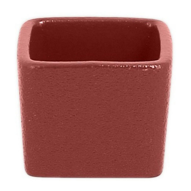 Neofusion miska nízká tvar kostky 6 cl - tmavě červená