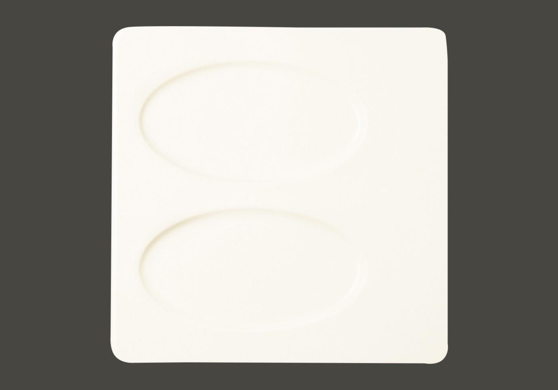 Čtvercový talíř - 2 oval oddíl - Angelica All spice