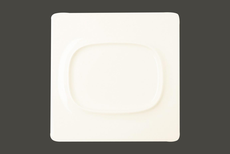 Čtvercový talíř - 1 oval indent - Lavender All spice
