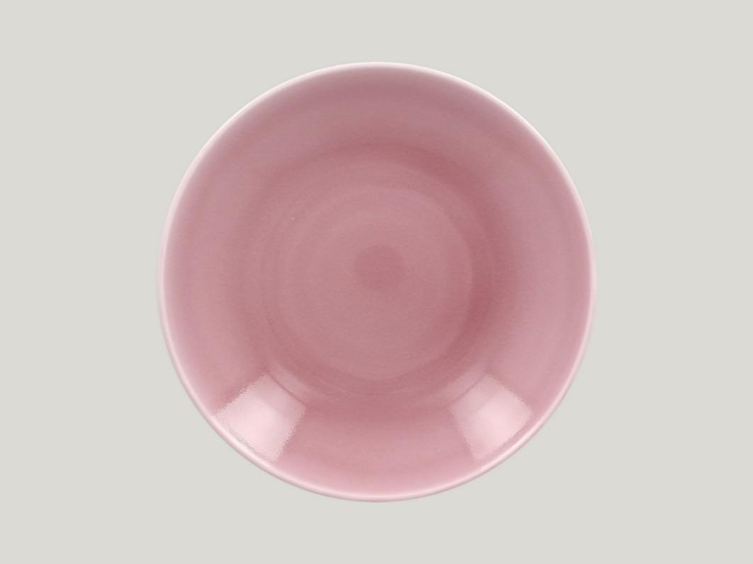 hluboký coupe talíř - pink Vintage