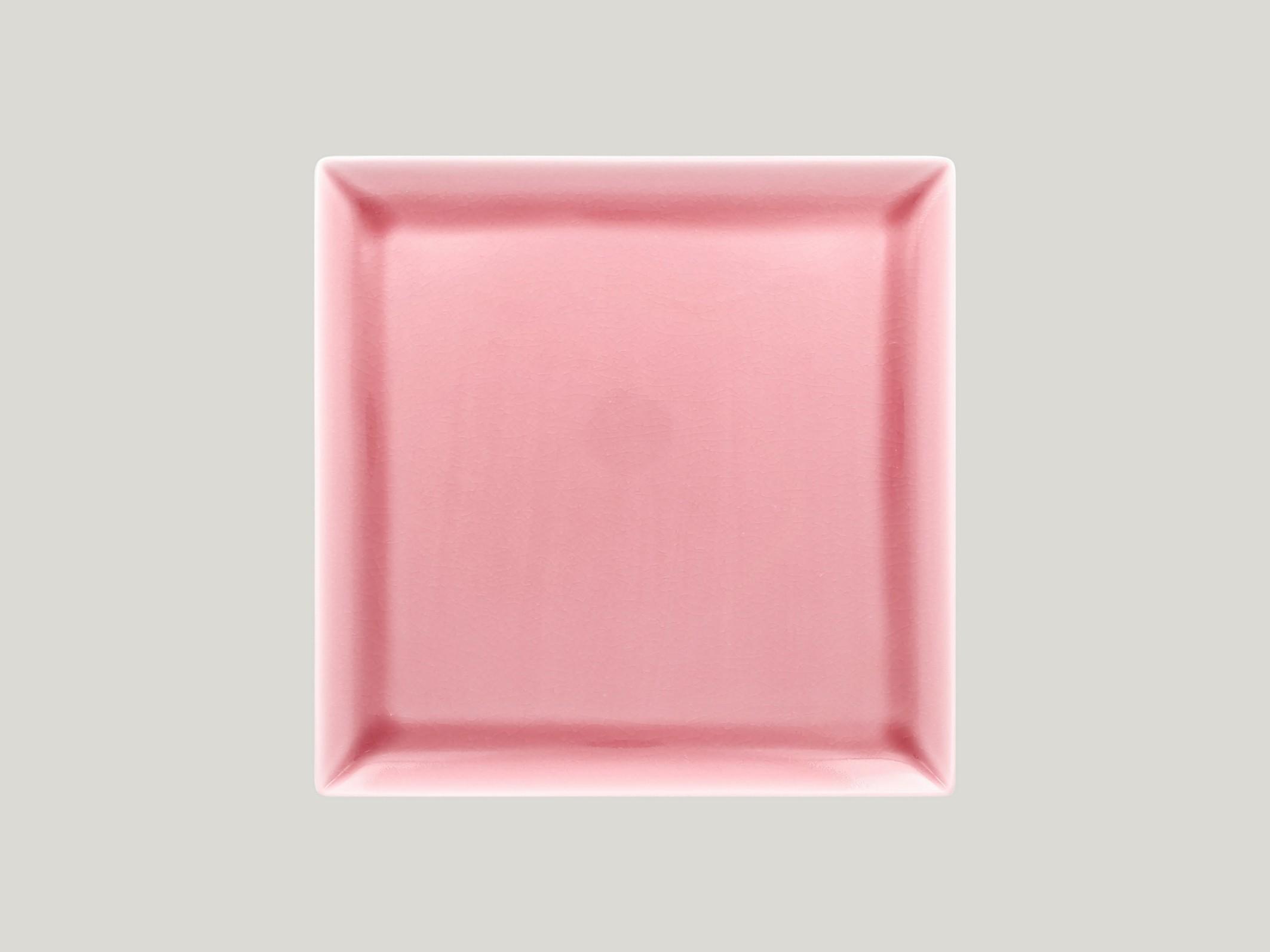 Čtvercový talíř - pink Vintage