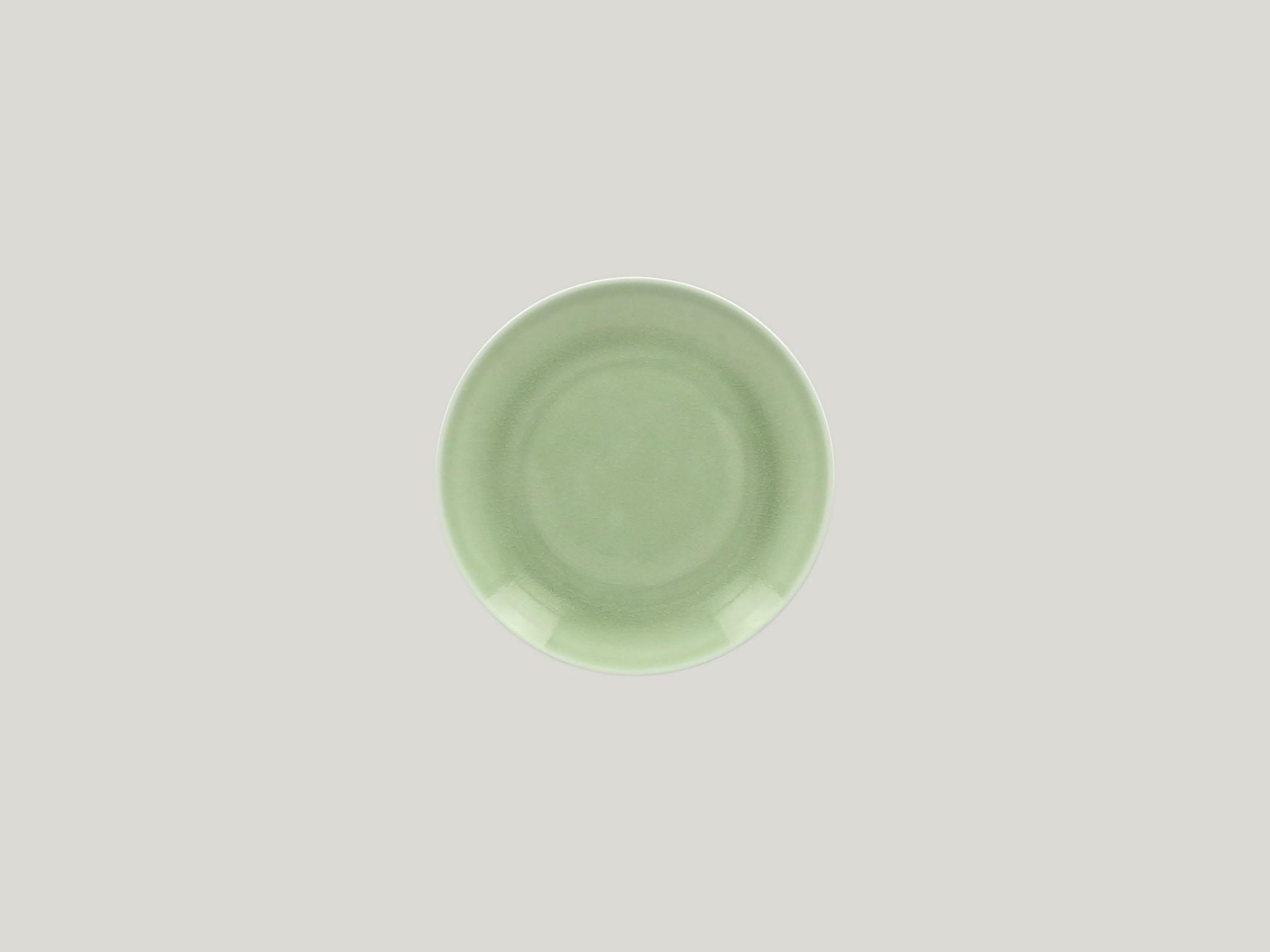 mělký coupe talíř - green Vintage