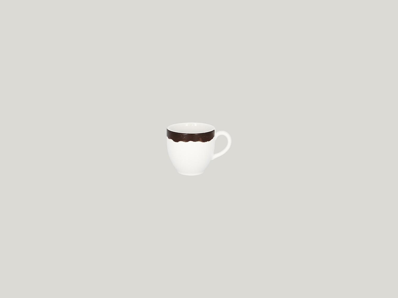 Šálek na espresso 9 cl - tmavě hnědá