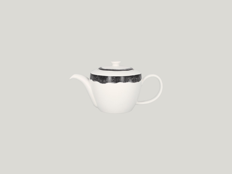 Konvice na čaj s víčkem - šedá Woodart
