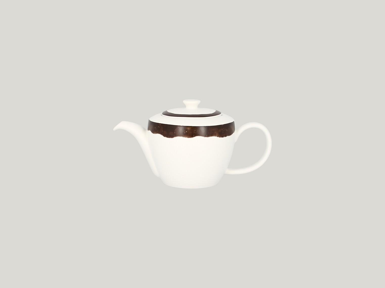 Konvice na čaj s víčkem - tmavě hnědá Woodart