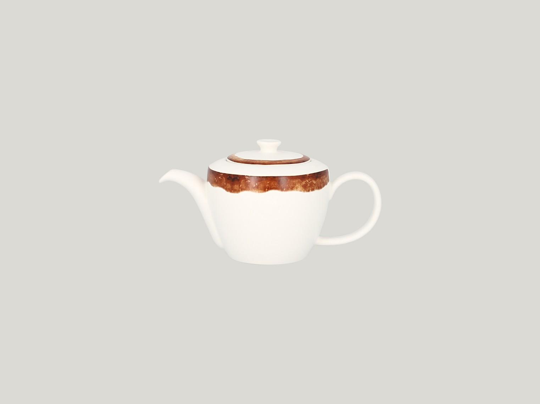 Konvice na čaj s víčkem - světle hnědá Woodart
