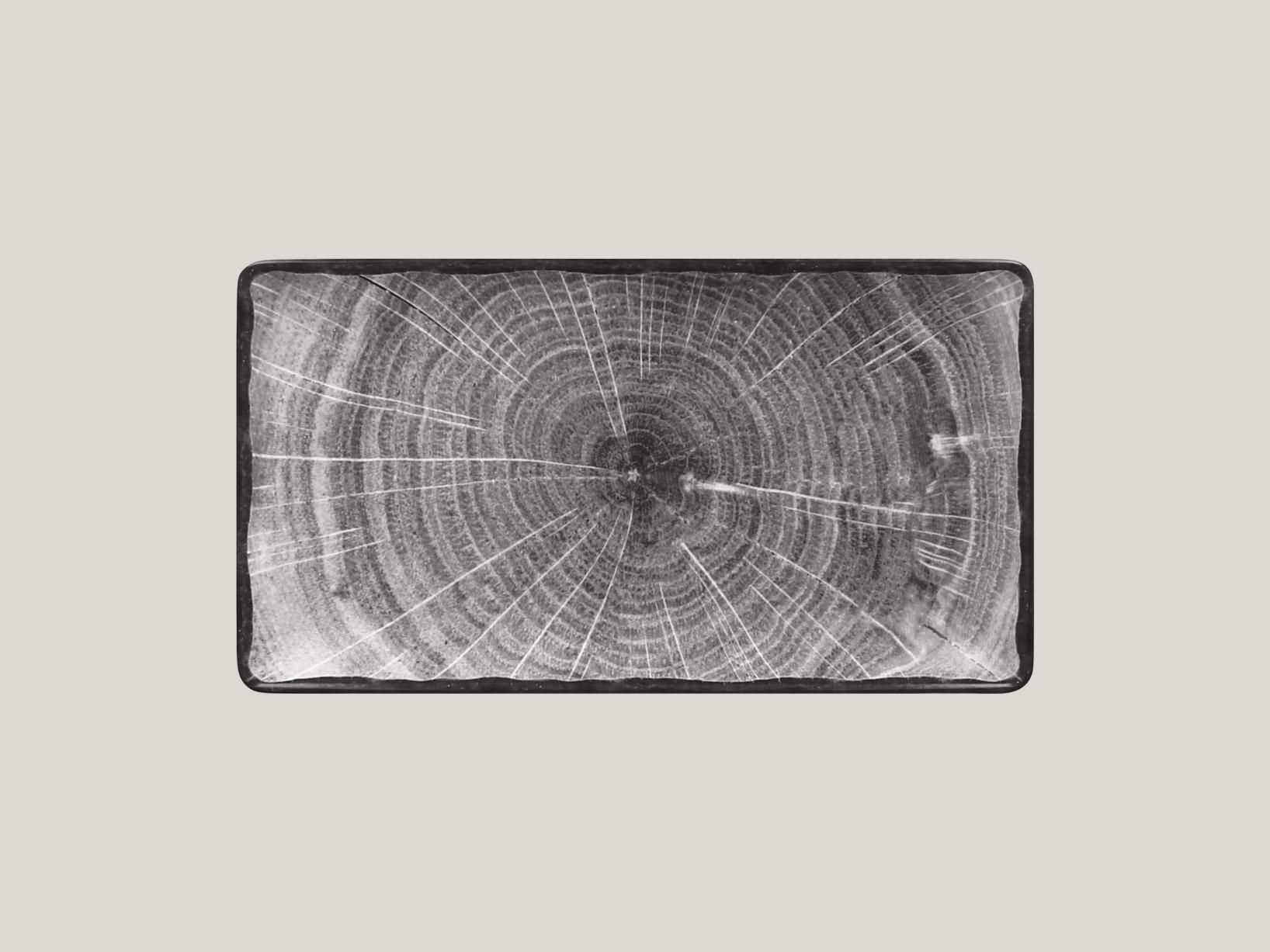 Obdélný  talíř - šedá Woodart