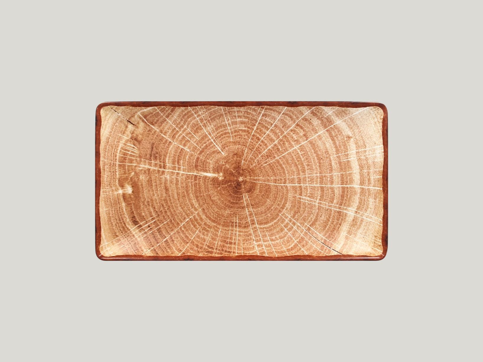 Obdélný  talíř - světle hnědá Woodart
