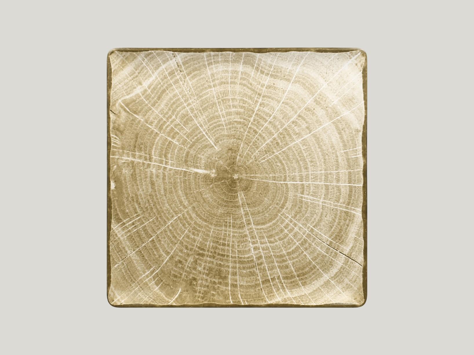 Čtvercový talíř - zelená Woodart