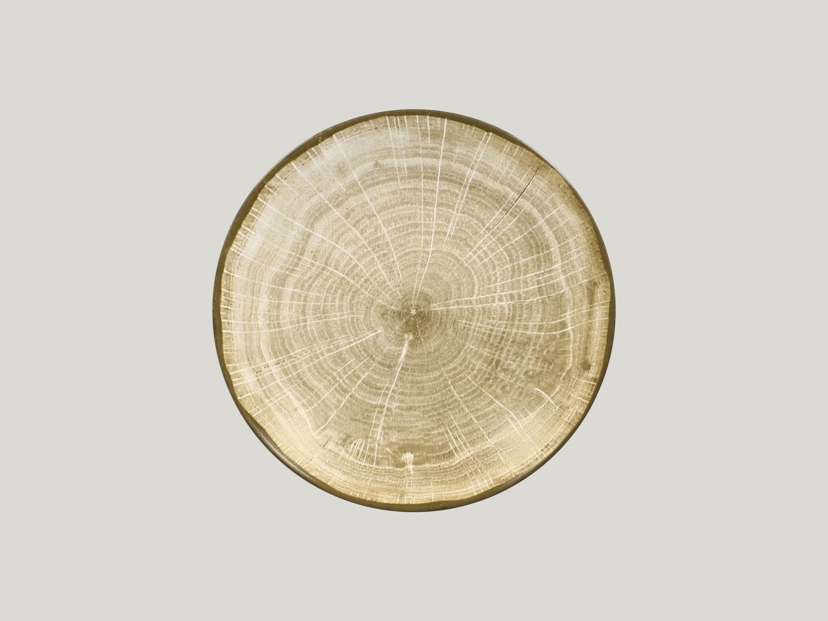 hluboký coupe talíř - zelená Woodart