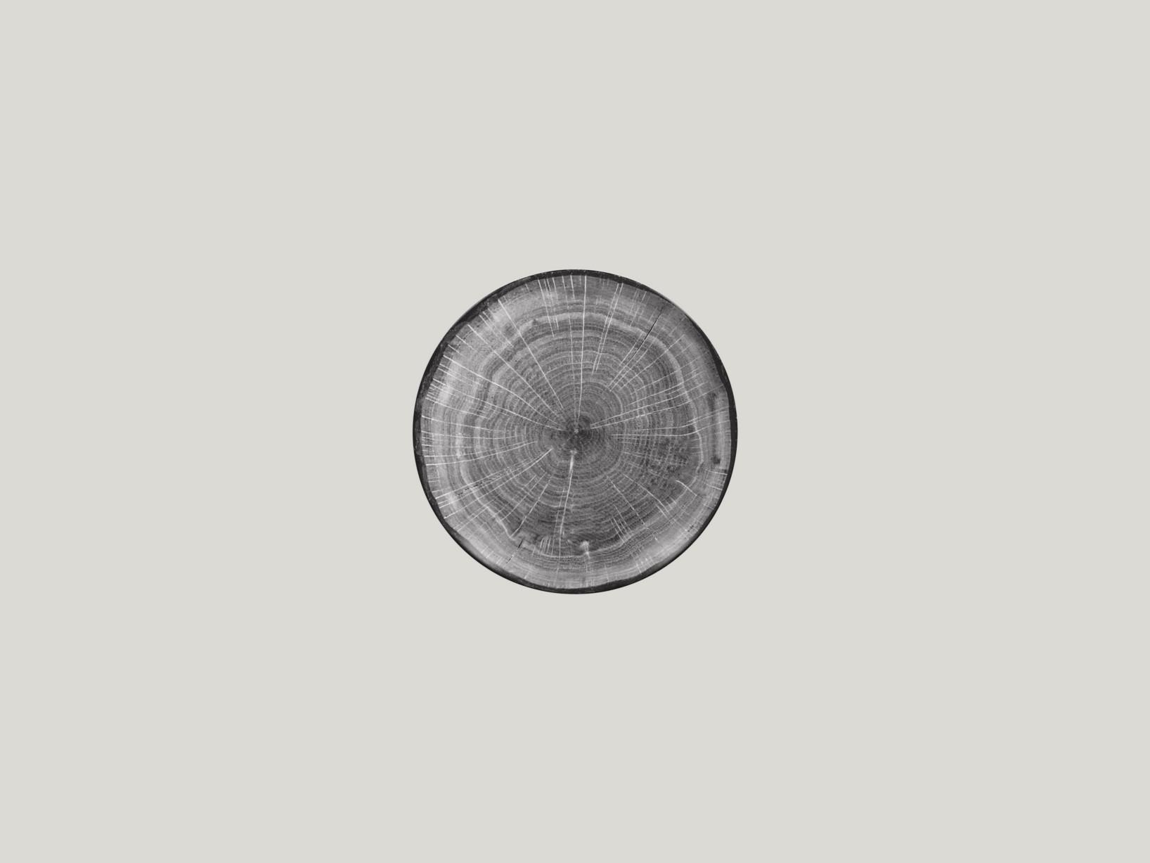 mělký coupe talíř - šedá Woodart