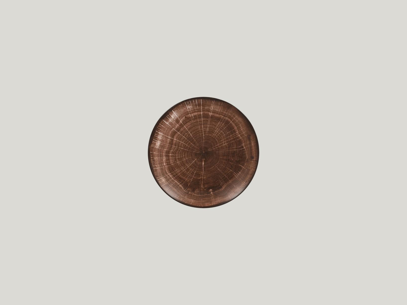 Talíř dezertní coupe 15 cm - tmavě hnědá