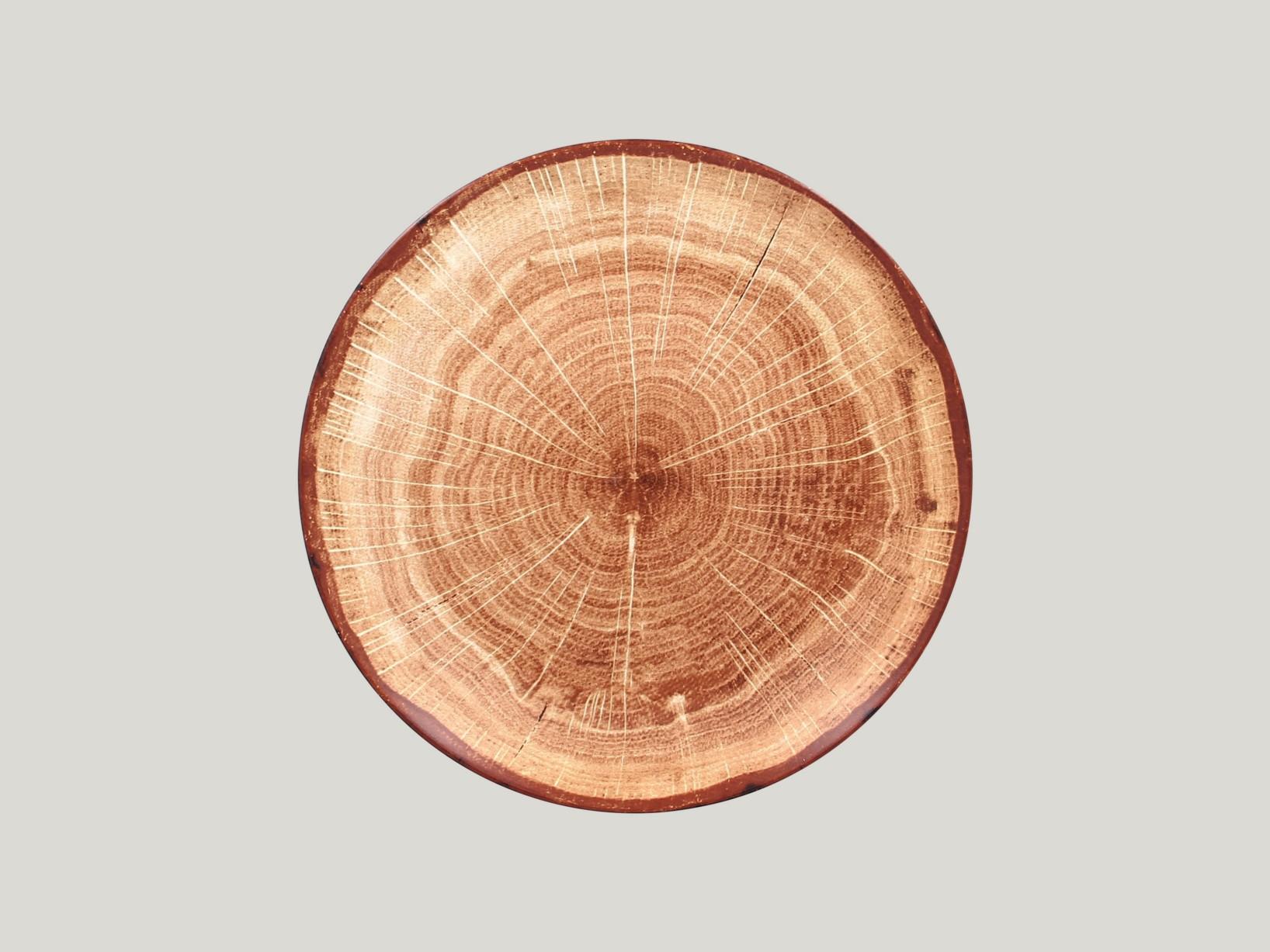 mělký coupe talíř - světle hnědá Woodart