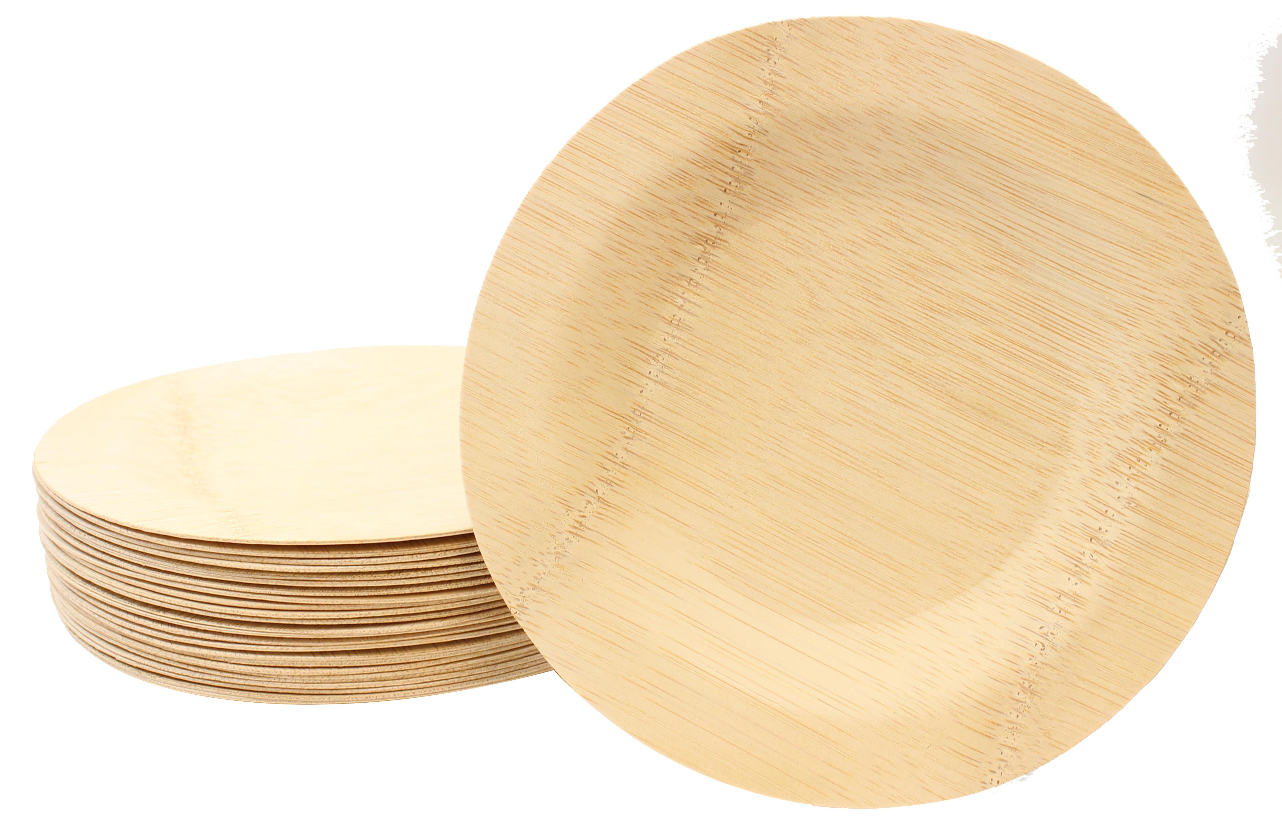 Talíř bambusový kulatý jednorázový 100ks