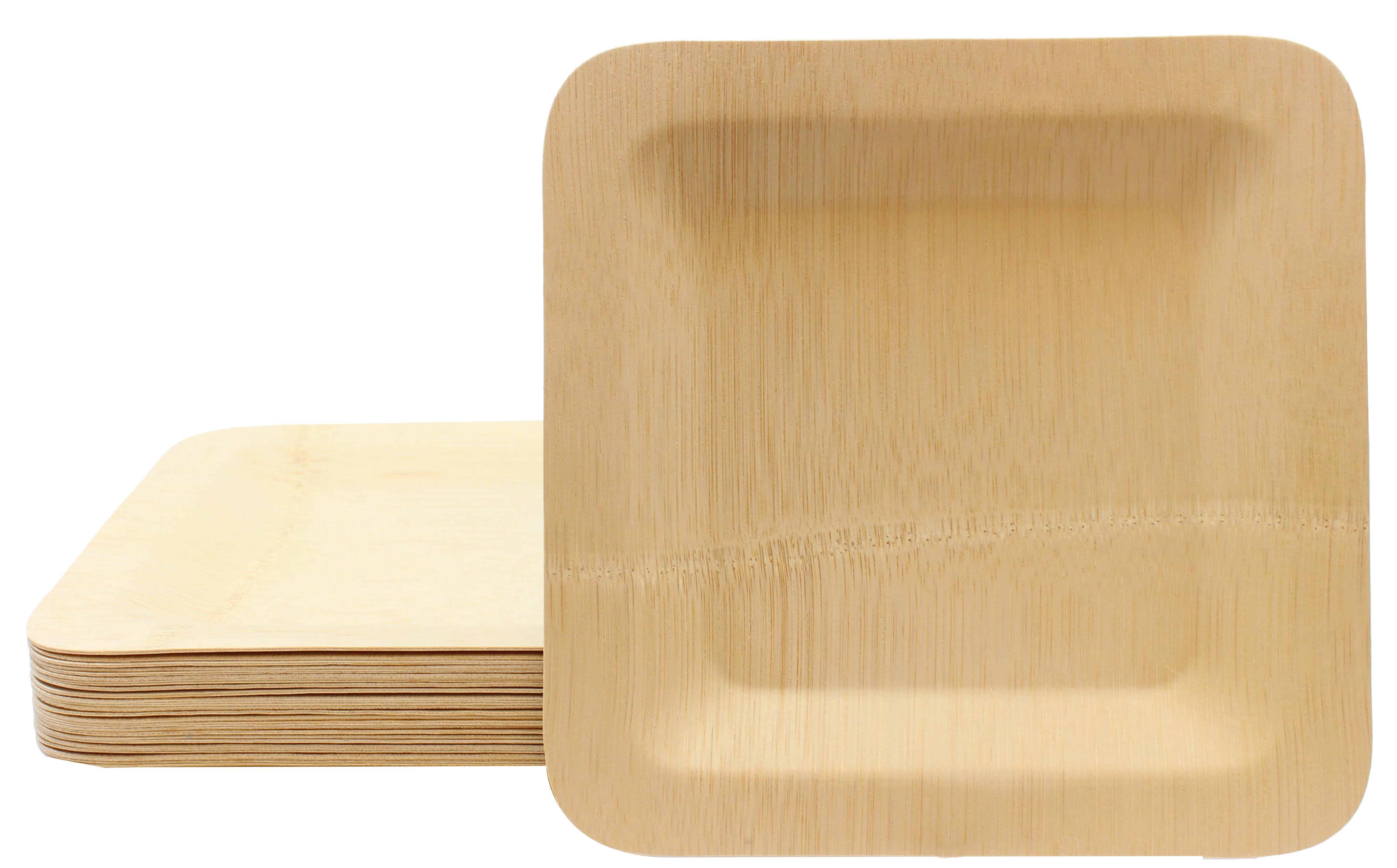Talíř bambusový čtvercový jednorázový 250ks