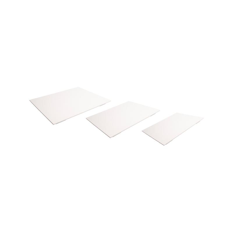 Deska melaminová bílá GN ½