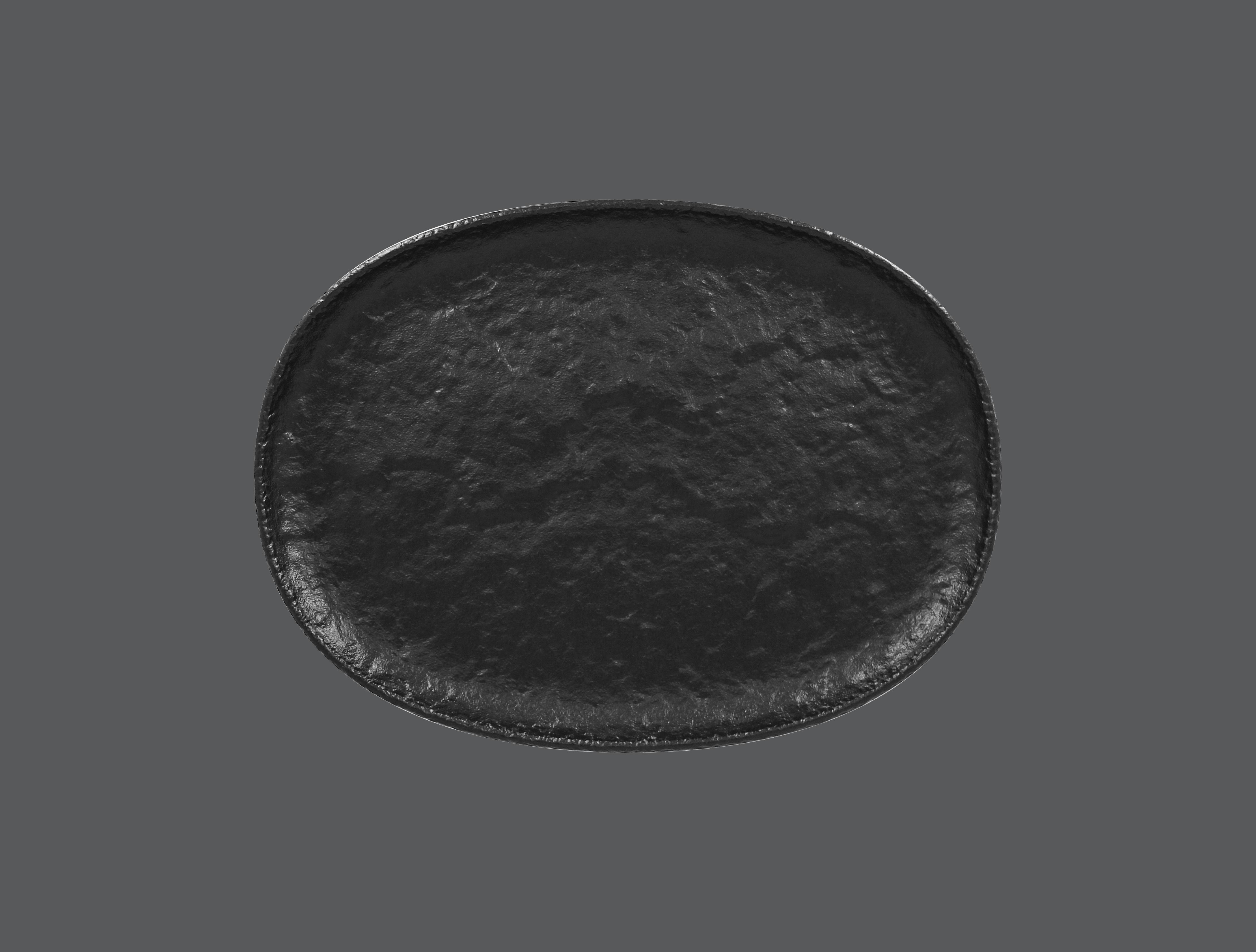 Roks talíř oválný 32 x 23,5 cm - černá