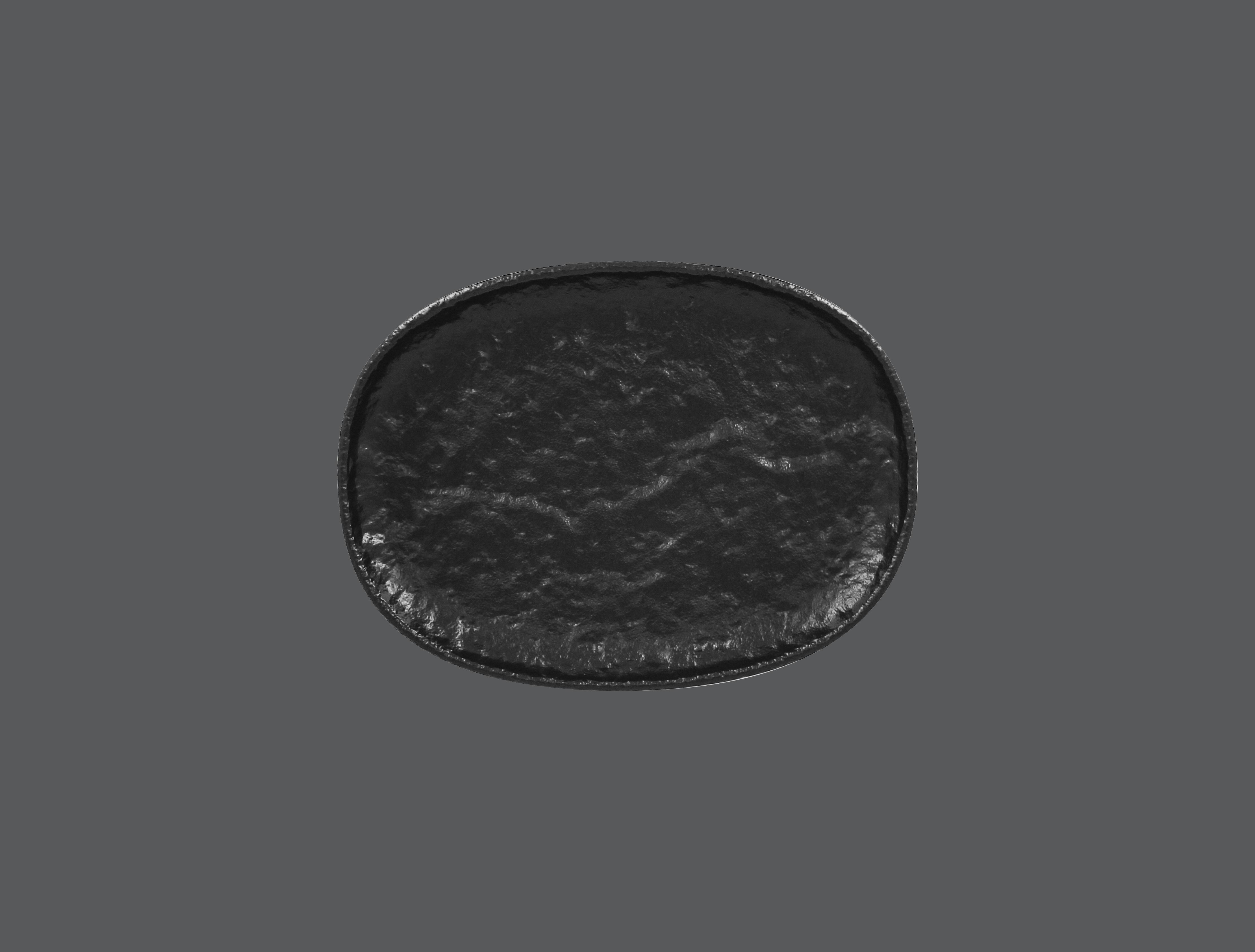 Roks talíř oválný 25 x 18,5 cm - černá
