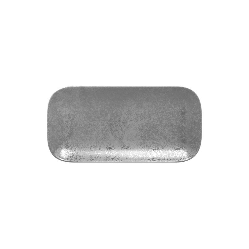 Talíř obdélníkový 22 x 11 cm - šedá