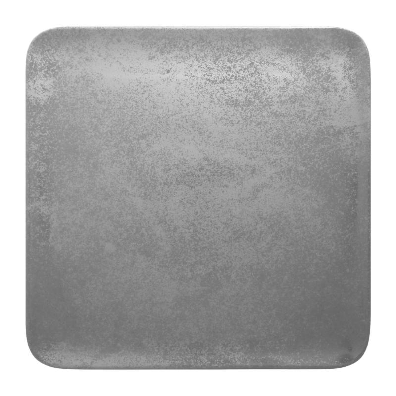 Talíř čtvercový 33 cm - šedá