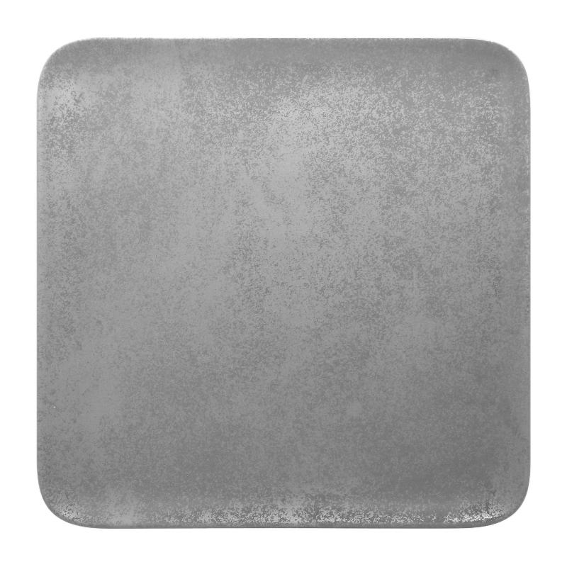 Talíř čtvercový 30 cm - šedá