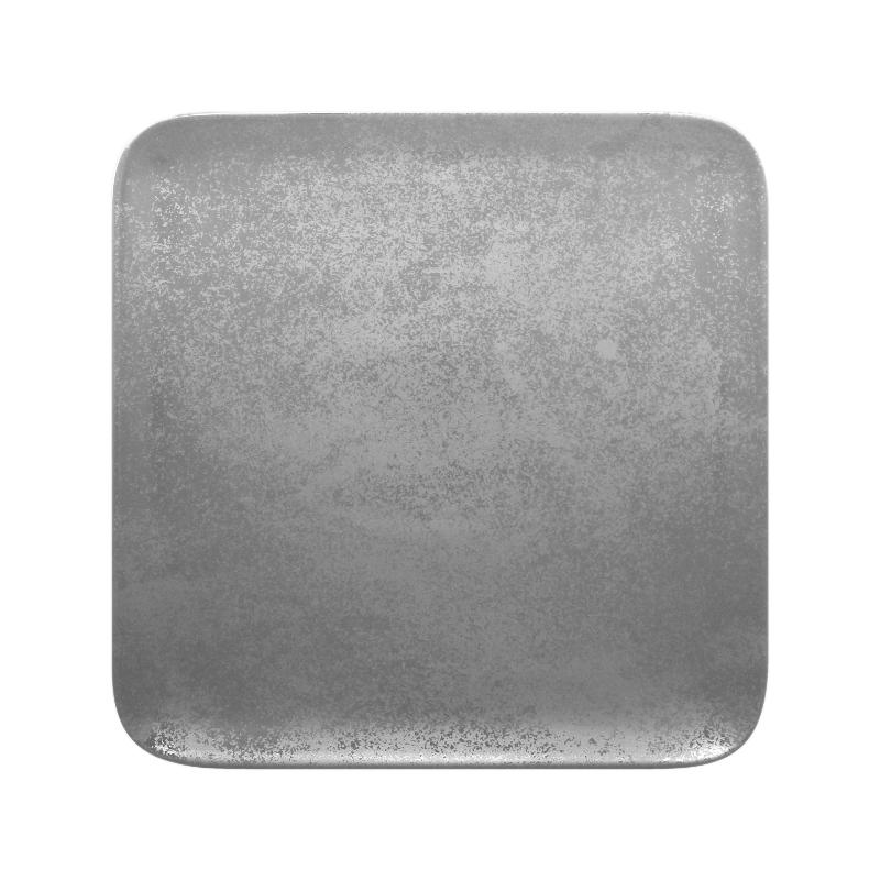 Talíř čtvercový 27 cm - šedá