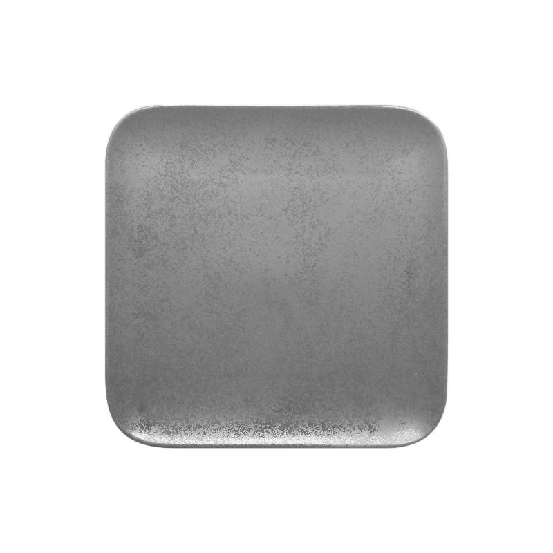 Talíř čtvercový 22 cm - šedá