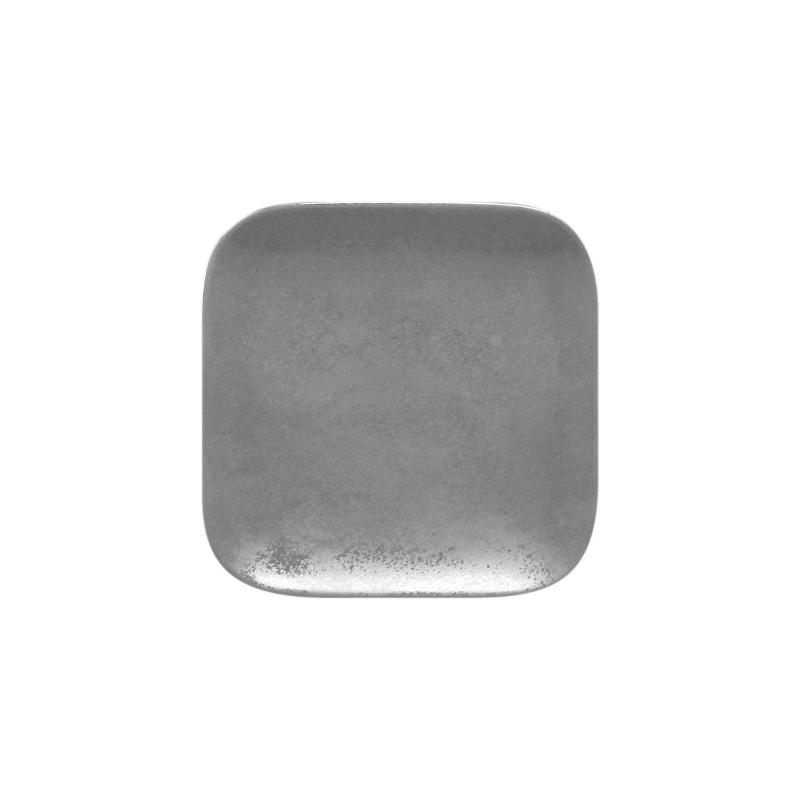 Talíř dezertní čtvercový 15 cm - šedá