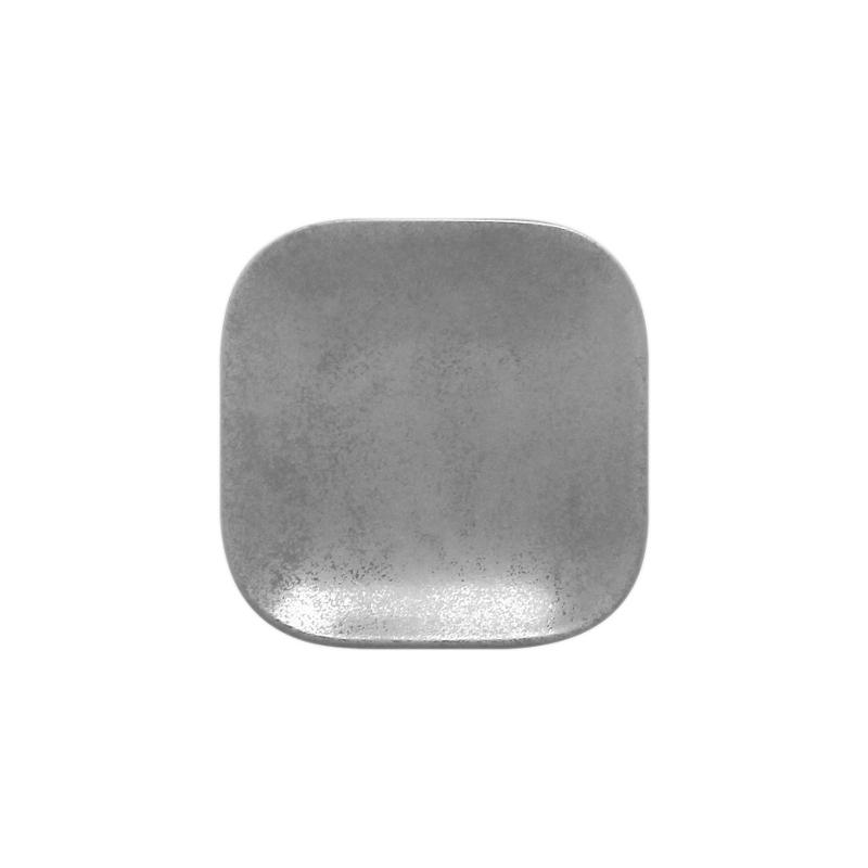 Talíř dezertní čtvercový 11 cm - šedá