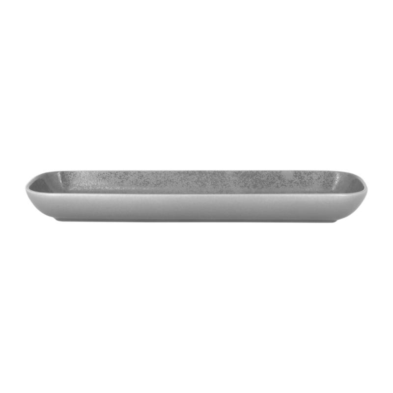 Miska obdélníková 33 x 11 cm - šedá