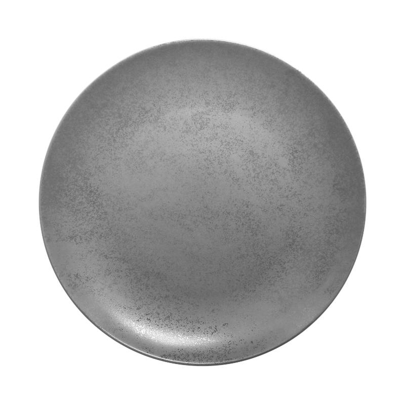 Talíř mělký kulatý 29 cm - šedá