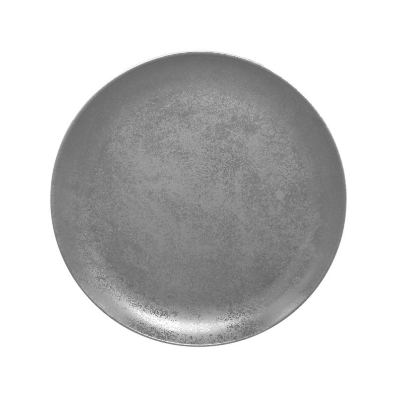 Talíř mělký kulatý 27 cm - šedá