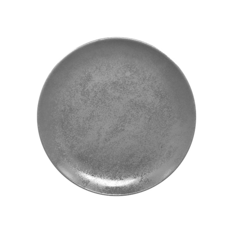 Talíř mělký kulatý 24 cm - šedá