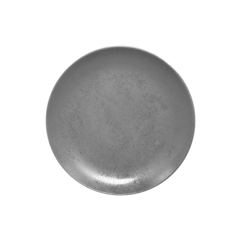 Talíř mělký kulatý 21 cm - šedá