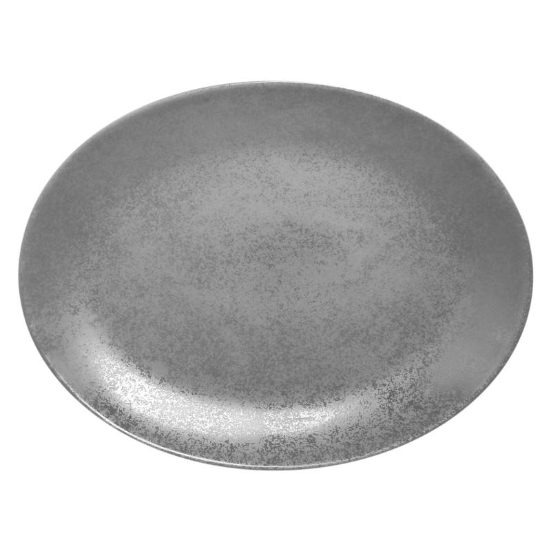 Talíř oválný 36 cm x 27 cm - šedá