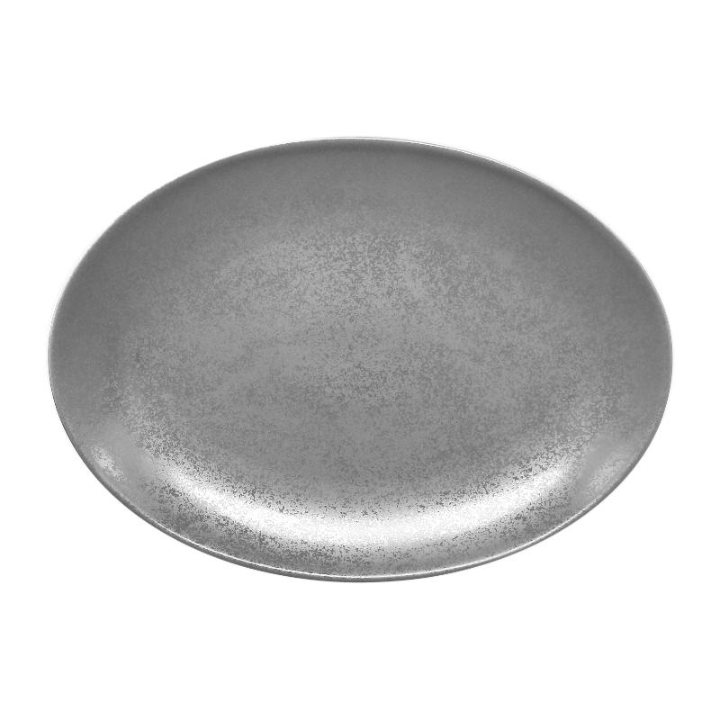Talíř oválný 32 cm x 23 cm - šedá