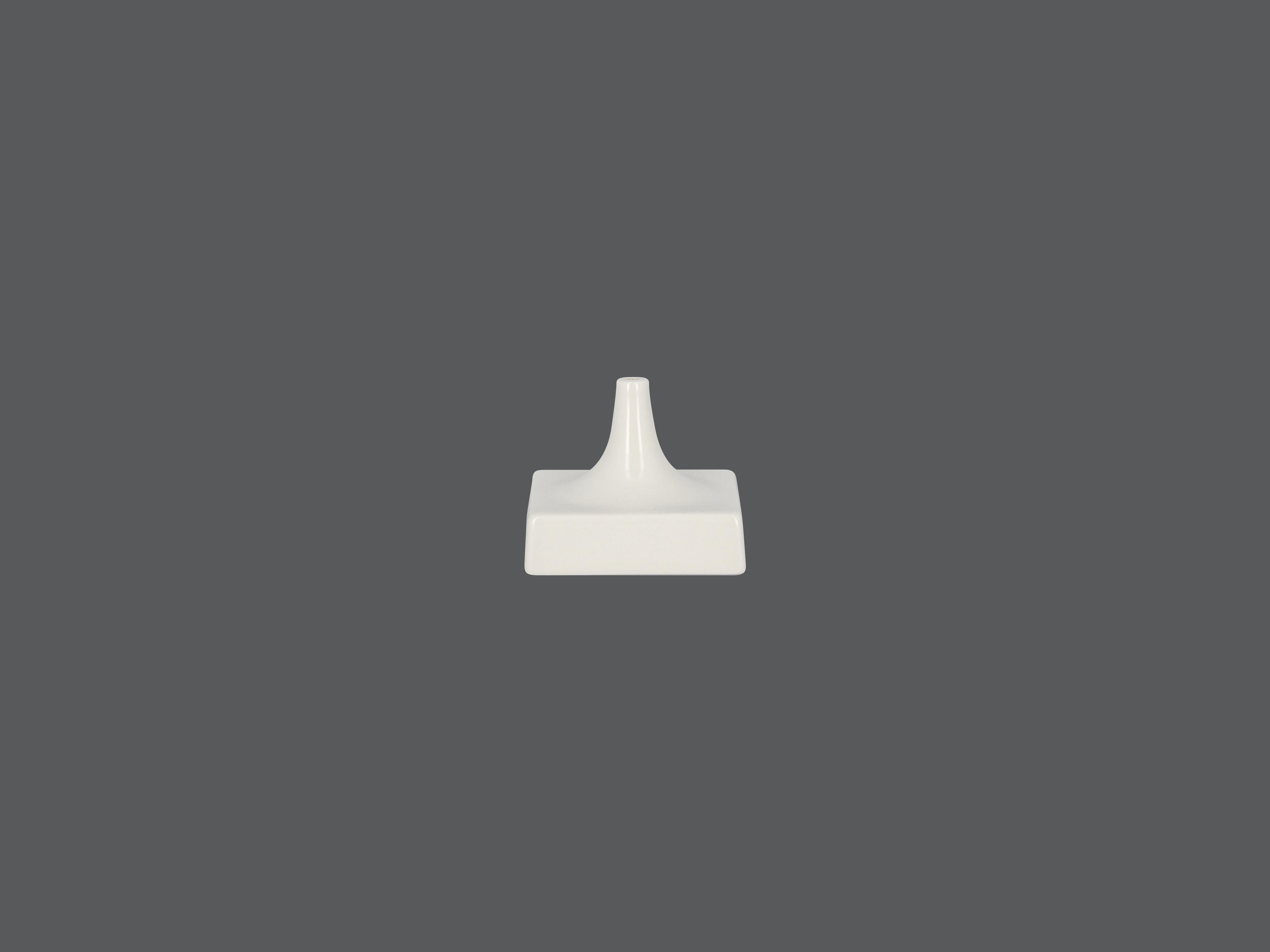 Čtvercový stojan - 1 otvor - bílá