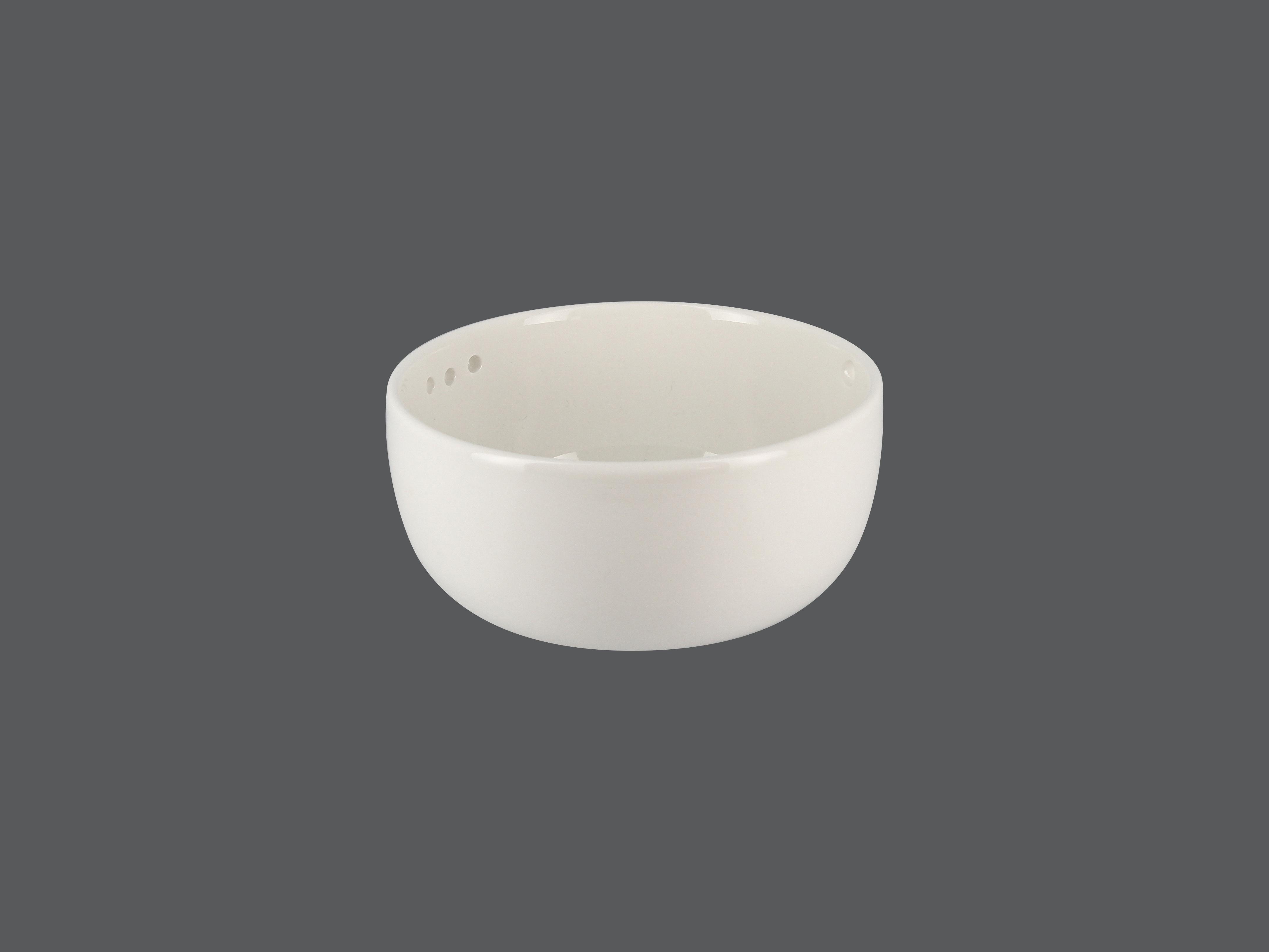 Miska s bočními dírkami na špejli 45 cl - bílá