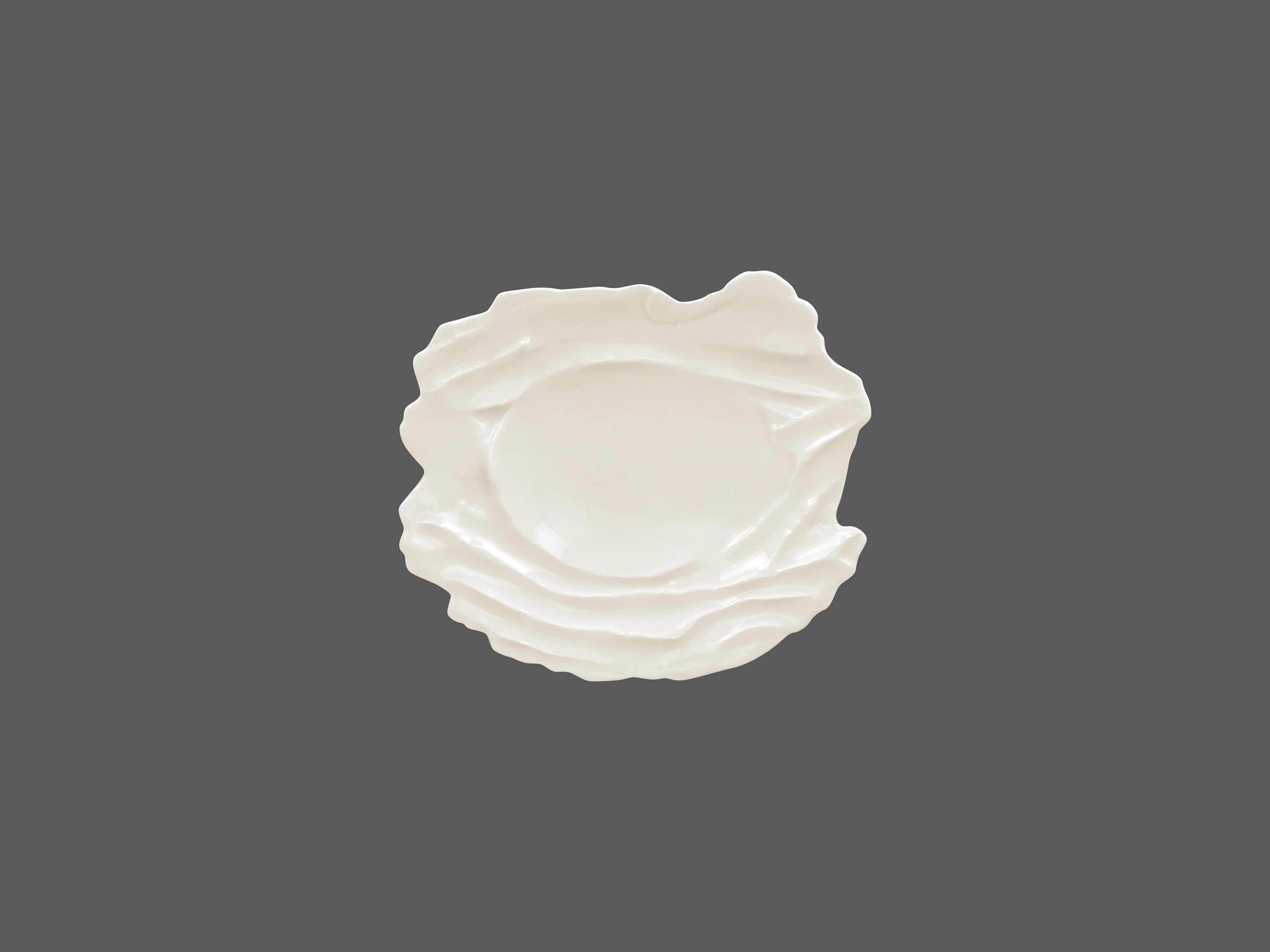 Sketches talíř reliéfní mělký 20 x 27 cm - bílá