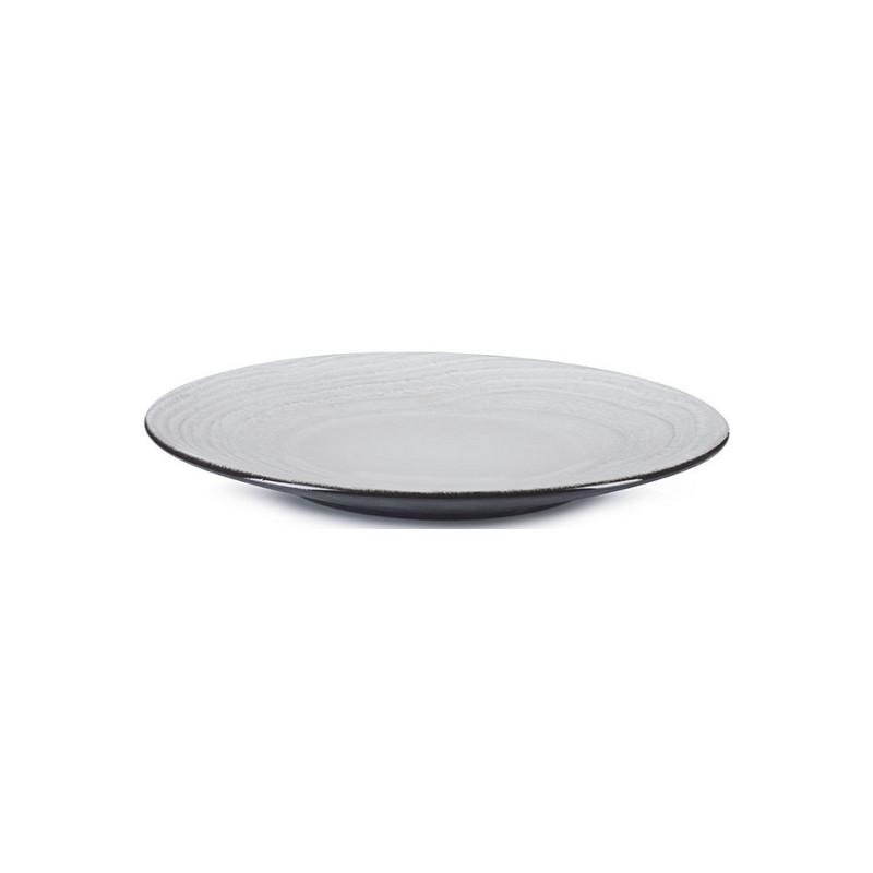 Talíř na dezert 21,5 cm - bílý písek