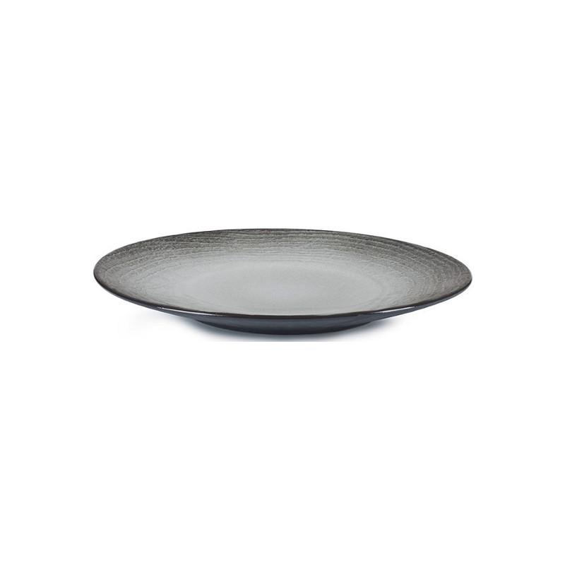 Talíř na dezert 21,5 cm - černý písek