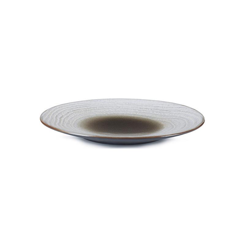 Talíř na dezert 21,5 cm - hnědý písek