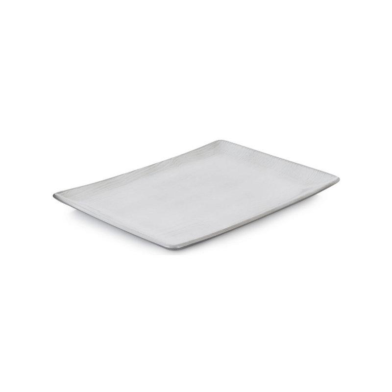 Talíř obdélníkový 32×23 cm - bílý písek